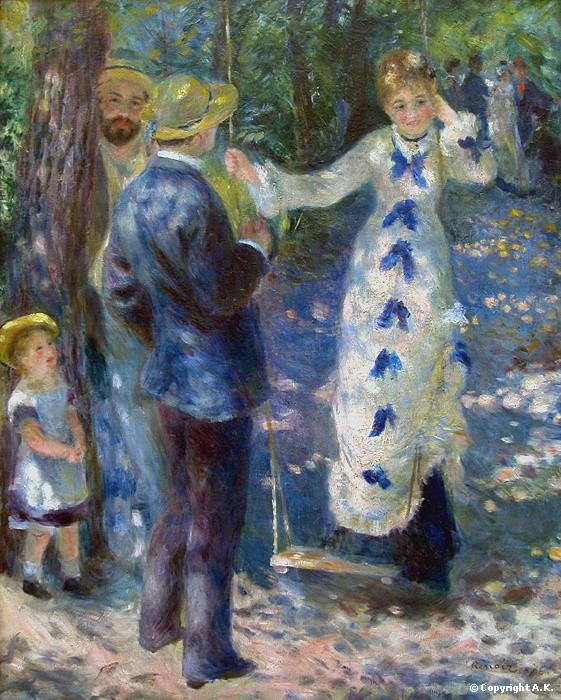 peinture,renoir,la balançoire,impressionnisme,musée d'orsay