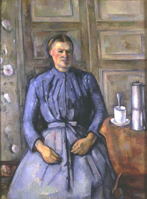 cézanne,la femme à la cafetière,musée d'orsay,cubisme,peinture,portrait,métonymie,monde moderne