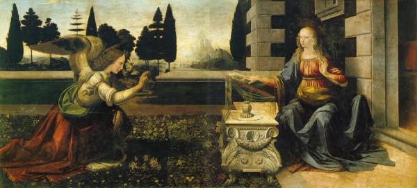 filippo lippi,annonciation  avec deux donateurs,rome,italie,palais barberini,brunelleschi,perspective,religion