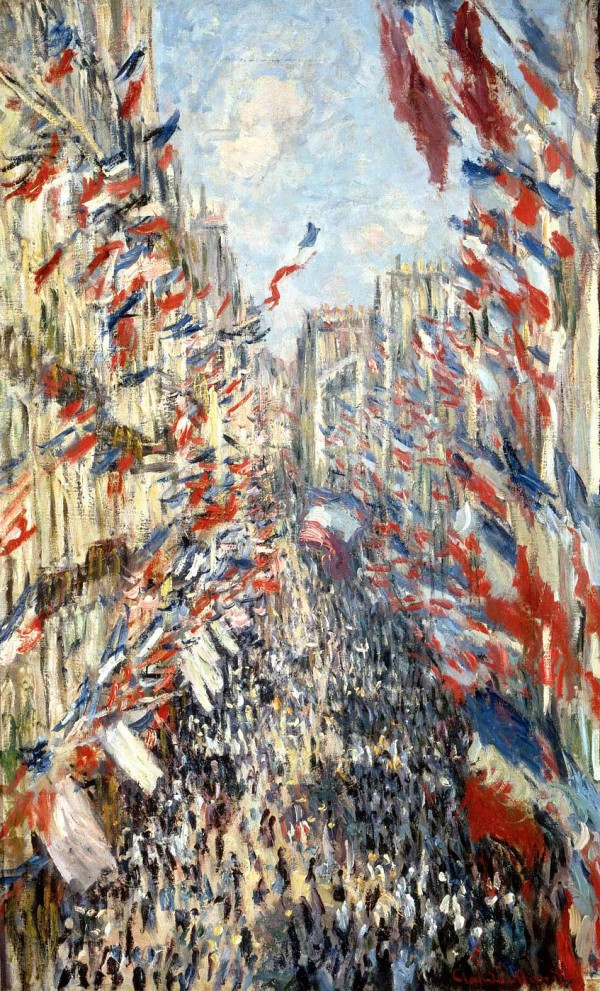 claude monet,rue montorgueil,fête du 30 juin 1878,orsay,rimbaud,illuminations,littérature,poésie,politique,festivités,illusions