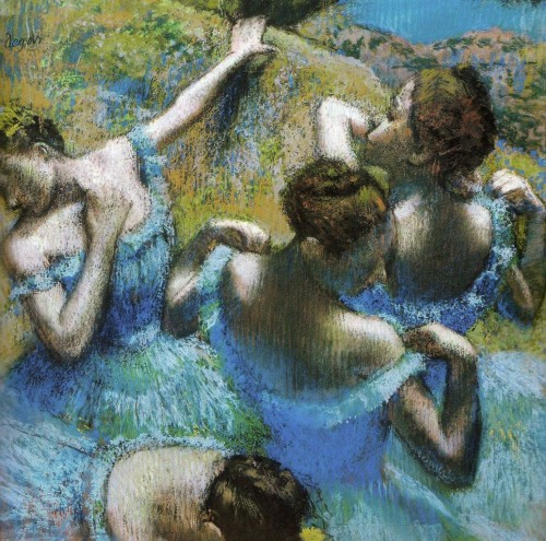 degas,danseuses en bleu,pastel,salomé,danse