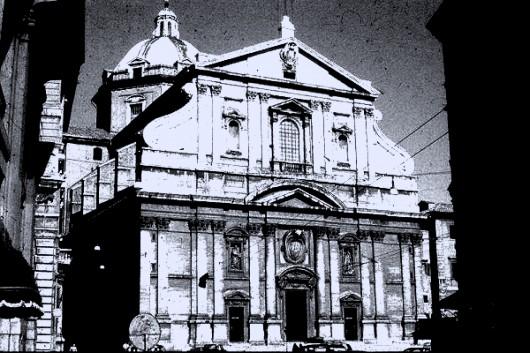 rome,italie,stendhal,promenades dans rome,église du gesù,diable,jésuites,littérature