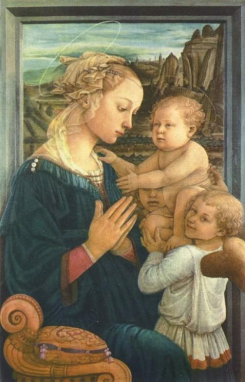 filippo lippi,madone à l'enfant avec deux anges,musée des offices,florence,italie,peinture,renaissance